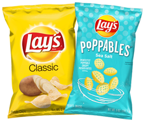 LAY'S CHIPS <br>OR POPPABLES