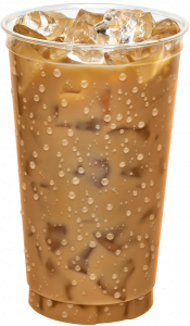 Iced Coffee with condensation