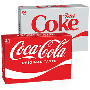 Coca-Cola and Diet Coke 24 cans by Country Fair