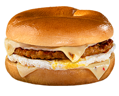 SPICY SAUSAGE, EGG, & CHEESE BAGEL